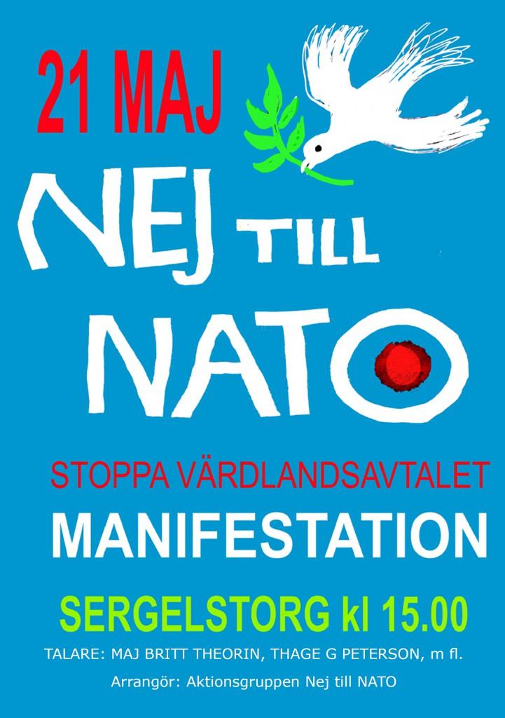 flygblad nej till värdlandsavtalet 21 maj 2016