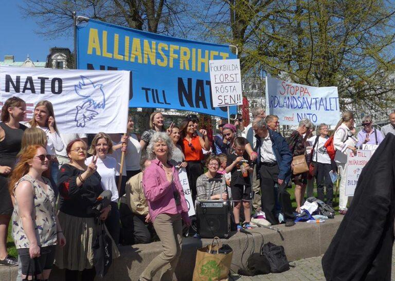 Manifestation mot värdlandsavtalet malmö 7e maj 2016